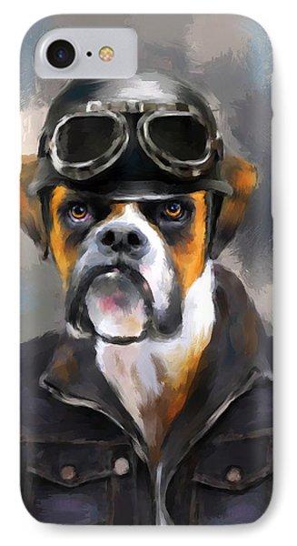 Chic Boxer Aviator IPhone Case by Jai Johnson