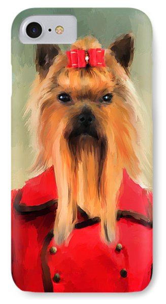 Chic Yorkshire Terrier IPhone Case by Jai Johnson
