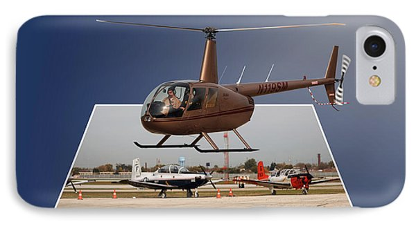 Chicago 08 Helicopter Landing IPhone Case by Thomas Woolworth