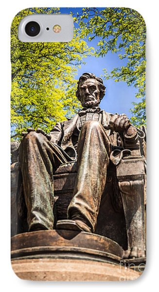 Chicago Abraham Lincoln Sitting Statue Phone Case by Paul Velgos