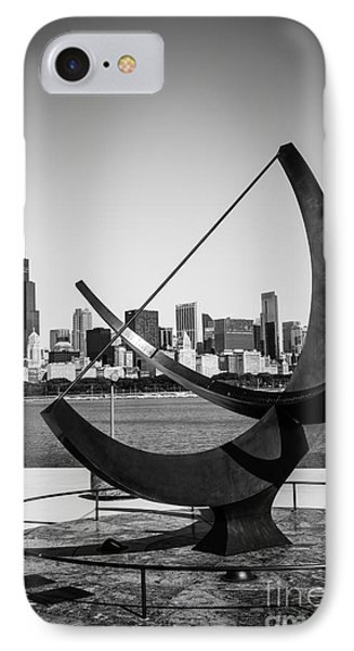 Chicago Adler Planetarium Sundial In Black And White IPhone Case
