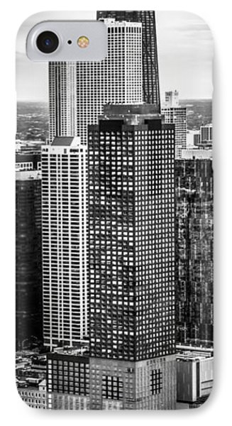 Chicago Aerial Vertical Panorama Photo IPhone Case by Paul Velgos