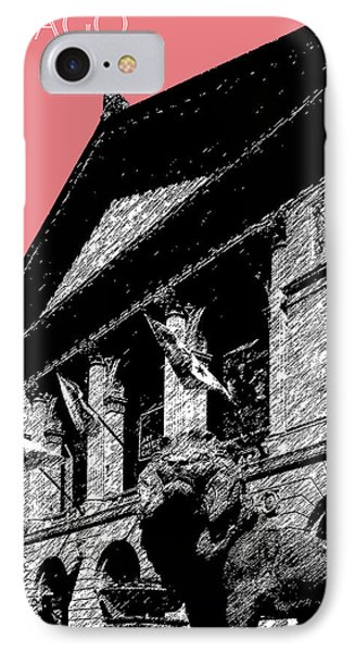 Chicago Art Institute Of Chicago - Light Red Phone Case by DB Artist