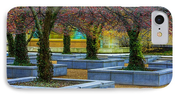 Chicago Art Institute South Garden IPhone Case by Raymond Kunst