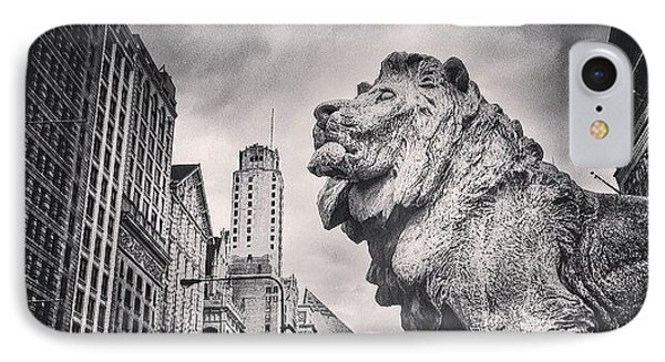 Art Institute Of Chicago Lion Picture IPhone Case by Paul Velgos