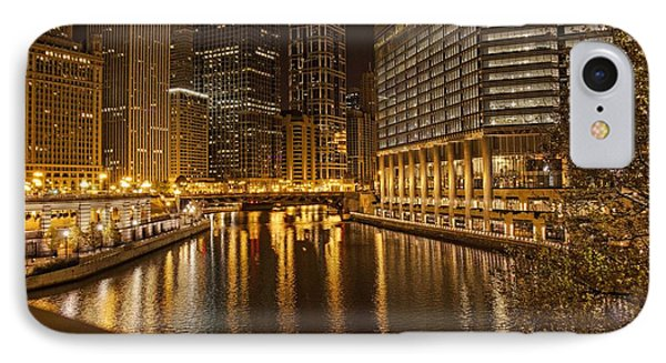Chicago At Night IPhone Case by Daniel Sheldon