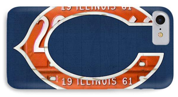 Chicago Bears Football Team Retro Logo Illinois License Plate Art IPhone Case by Design Turnpike