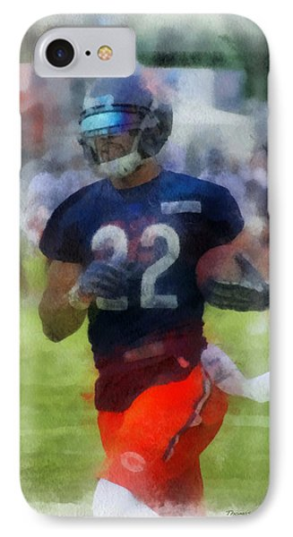 Chicago Bears Rb Matt Forte Training Camp 2014 Pa 01 IPhone Case by Thomas Woolworth