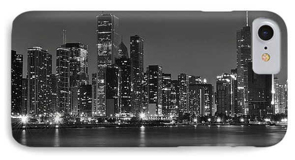 Chicago Black And White Panoramic IPhone Case by Frozen in Time Fine Art Photography