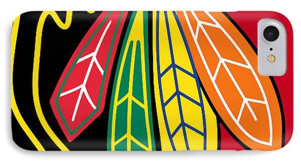 Chicago Blackhawks 2 IPhone Case by Tony Rubino