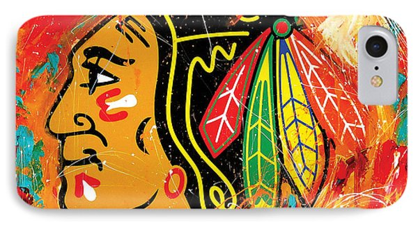 Chicago Blackhawks Logo IPhone Case by Elliott From