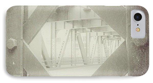 Chicago Bridge Ironwork Vintage Photo IPhone Case by Paul Velgos