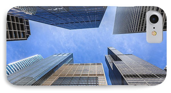 Chicago Buildings Upward View With Willis-sears Tower IPhone Case
