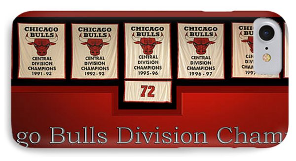 Chicago Bulls Division Champions Banners IPhone Case by Thomas Woolworth