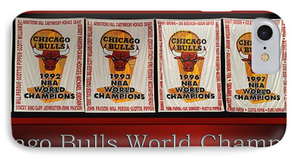 Chicago Bulls World Champions Banners IPhone Case by Thomas Woolworth