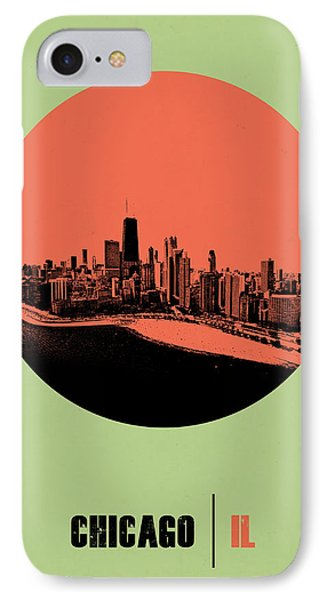 Chicago Circle Poster 1 IPhone Case by Naxart Studio