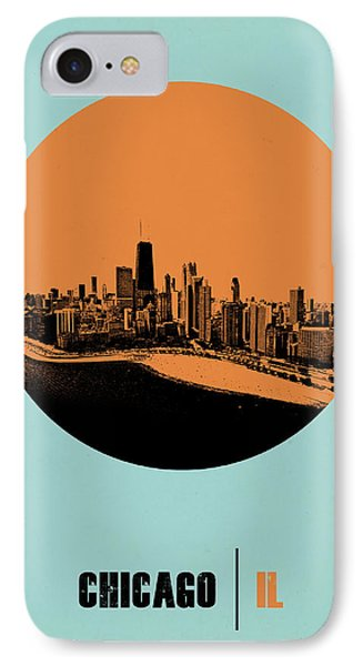 Chicago Circle Poster 2 IPhone Case by Naxart Studio