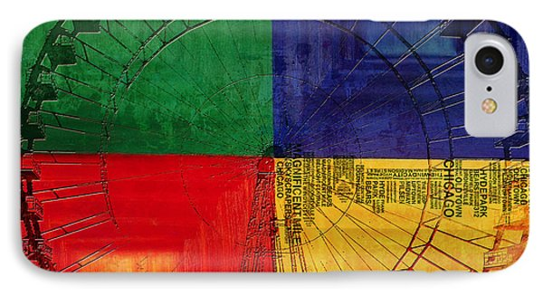 Chicago City Collage 3 IPhone Case by Corporate Art Task Force
