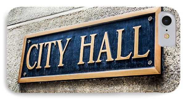 Chicago City Hall Sign Phone Case by Paul Velgos