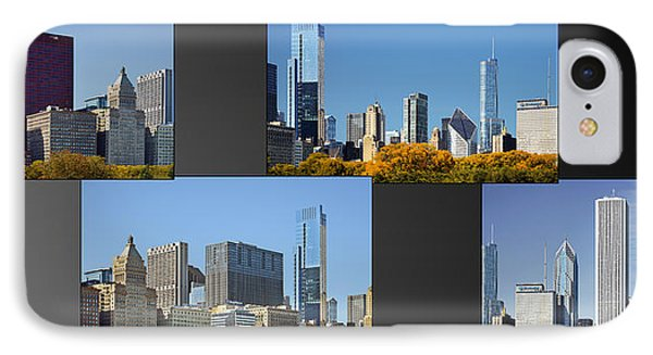 Chicago City Of Skyscrapers Phone Case by Christine Till