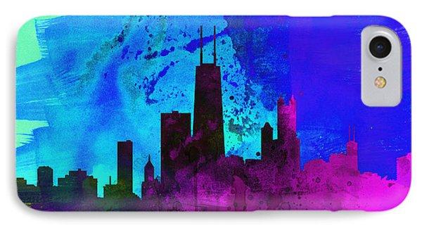 Chicago City Skyline IPhone Case by Naxart Studio