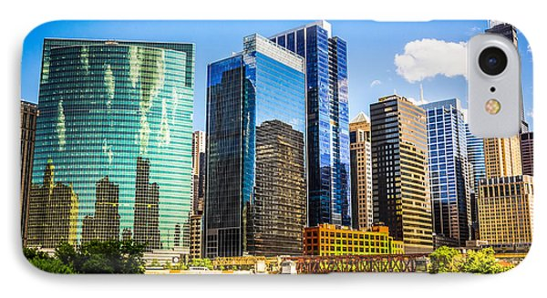 Chicago City Skyline IPhone Case by Paul Velgos
