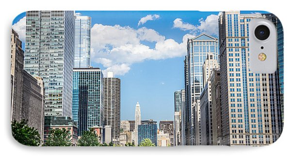Chicago Cityscape Downtown Buildings Phone Case by Paul Velgos