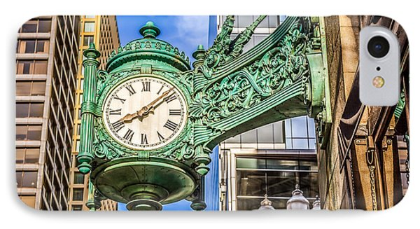 Chicago Clock Hdr Photo IPhone Case by Paul Velgos