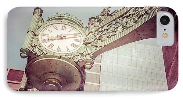 Chicago Clock Vintage Photo IPhone Case by Paul Velgos