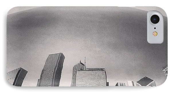Cloud Gate Chicago Skyline Reflection IPhone Case
