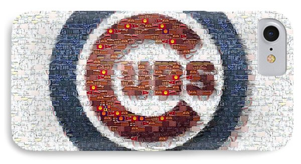 Chicago Cubs Mosaic IPhone 7 Case by David Bearden