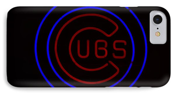 Chicago Cubs Neon Sign IPhone Case