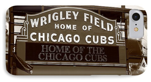 Chicago Cubs - Wrigley Field 25 IPhone Case by Frank Romeo