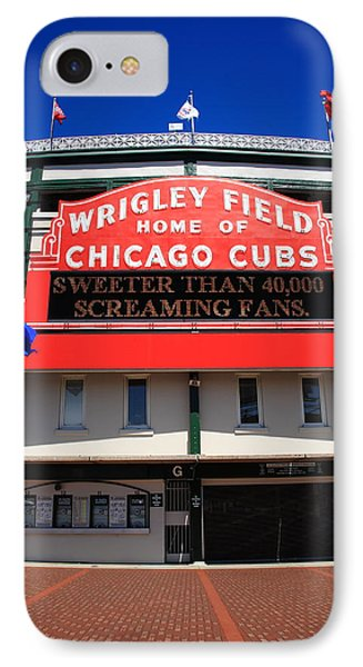 Chicago Cubs - Wrigley Field Phone Case by Frank Romeo