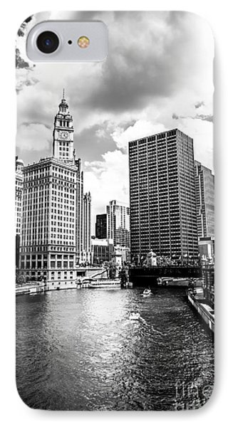 Chicago Downtown At Michigan Avenue Bridge Picture IPhone Case by Paul Velgos