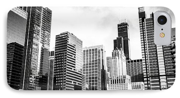 Chicago Downtown Black And White Picture IPhone Case by Paul Velgos