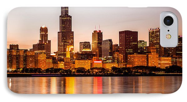 Chicago Downtown City Lakefront With Willis-sears Tower IPhone Case