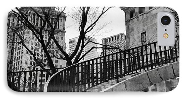 Chicago Staircase Black And White Picture IPhone Case by Paul Velgos