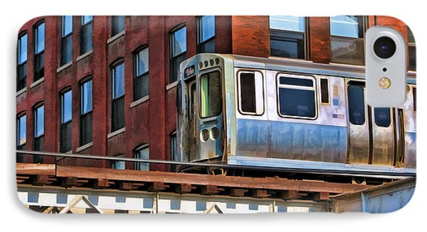 Chicago El And Warehouse IPhone Case by Christopher Arndt
