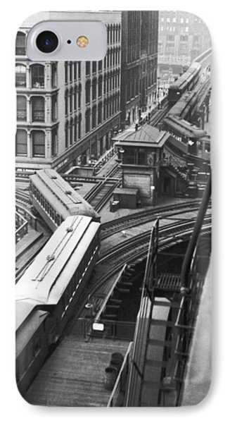 Chicago El Train IPhone Case by Underwood Archives