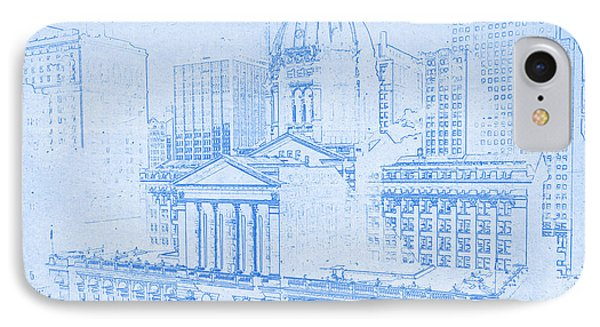 Chicago Federal Court 1961 Blueprint IPhone Case