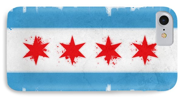 Chicago Flag Phone Case by Mike Maher