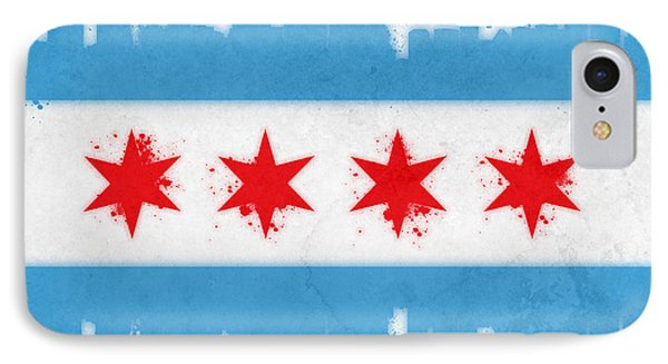 Chicago Flag IPhone 7 Case by Mike Maher