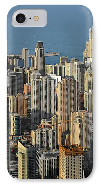 Chicago From Above - What A View Phone Case by Christine Till