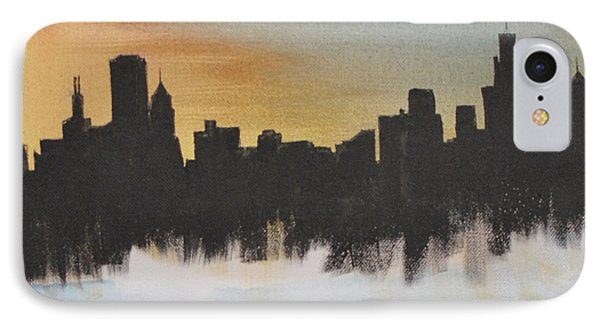 IPhone Case featuring the painting Chicago by Gary Smith