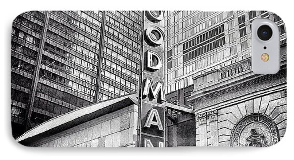 Chicago Goodman Theatre Sign Photo IPhone Case by Paul Velgos