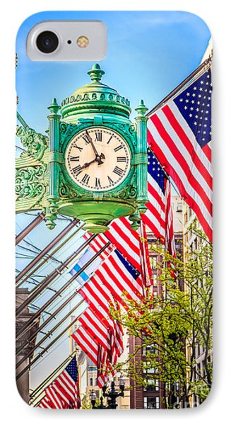 Chicago Great Clock On Macys Building IPhone Case by Paul Velgos