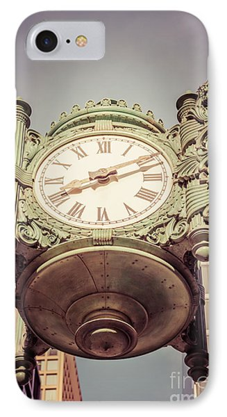 Chicago Great Clock Vintage Photo IPhone Case by Paul Velgos