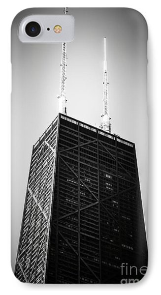 Chicago Hancock Building In Black And White IPhone Case by Paul Velgos