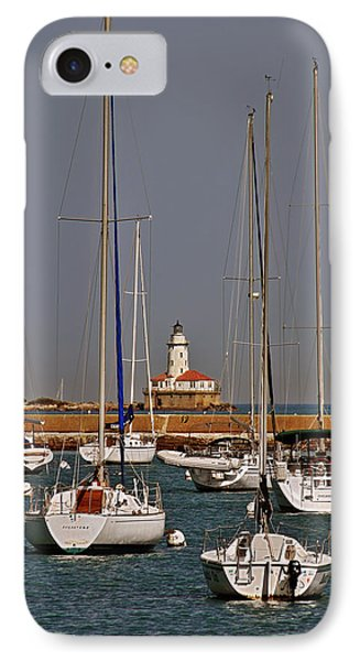 Chicago Harbor Lighthouse Illinois Phone Case by Christine Till